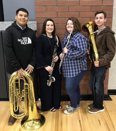 From left: Fabian Martinez, Alyssa Parks, Rebekah Parks, Corey Branton