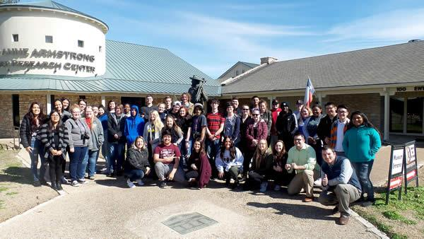 The students enjoyed a visit to the Texas Ranger Museum in Waco.