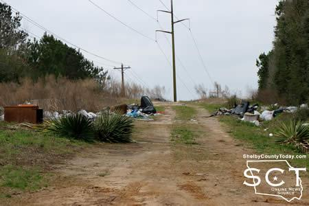 Photo taken in March of a right-of-way off CR 2020, which has received a lot of dumping activity over the year.