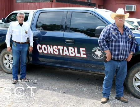 Constable Roy Cheatwood (right) and Deputy Constable Newton Johnson (left).