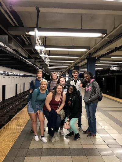 Subway Station Picture- Back Row (from left): Taylor Roth, Dallas Dennis, Rebekah Parks, Devin Kimzey, Ja'Karia Deckard. Front Row (from left): Cassidy Clifton, Allysha Stephens, Samaria Richard