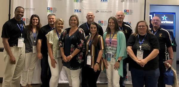 Those attending STEM conference are pictured above. Dr. Munday and Ms. Cindy Sessions attended but are not present in the photo.