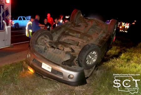 U S  84 at FM 3343 Scene of Single-Vehicle Crash   Shelby