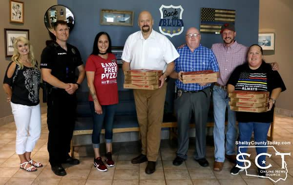 Pictured are (from left) Donna Dugger, Robert Lee, Angela Blalock, Jim Albers, Jeremy Bittick, Josh Moody and Amy Lindley.