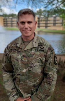Stephen F. Austin State University Professor of Military Science James Attaway was recently promoted to lieutenant colonel. Attaway is a 2004 SFA graduate and began his Army career in 1998. He has served with numerous units across the world before becoming SFA's chair of military science in 2018.