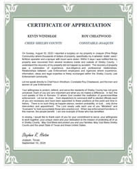 Click here to view Certificate of Appreciation