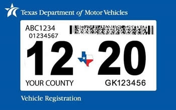 Sample Vehicle Registration Sticker
