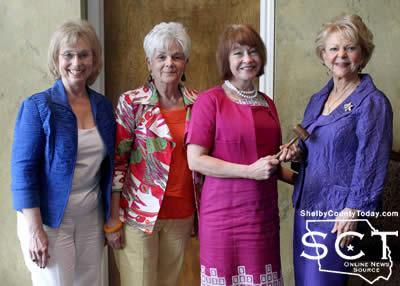 From left: Barbara Prince - Treasurer, Polly Smith - Secretary, Jeanne Walker - President, Donna Holt - Outgoing President, Not pictured: Debra Chadwick - 1st Vice President, Carol Chance - Corresponding Secretary