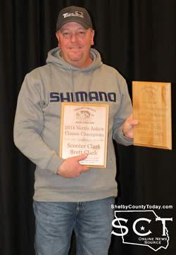 Scooter Clark (pictured above) and Brett Clark were presented with the 2014 Norris Askew Classic Championship Award at the SCBA banquet.