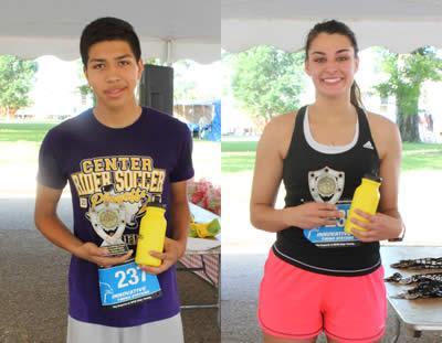 Top Runners - Ruben Soto and Emma Walker