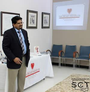 Dr. Llyas Khan Mohammed presents a slideshow about the Heart Institute of East Texas, 'The Firsts for Hearts in Deep East Texas""