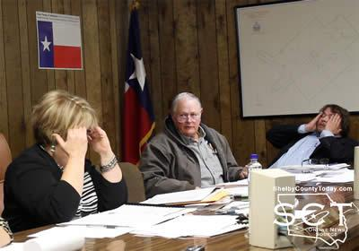 Ronnie Wolfe (center), Councilman, is seen speaking as Mayor Debra Pate Smith (left) and Kyle Allen, Councilman, (right) appear quite exasperated toward the end of the meeting.
