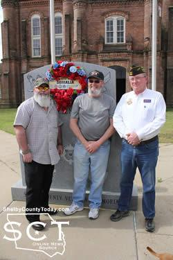 Pictured above are Somalia Veterans (from left) Sean Martin, Steve Reeff and Mike Langford