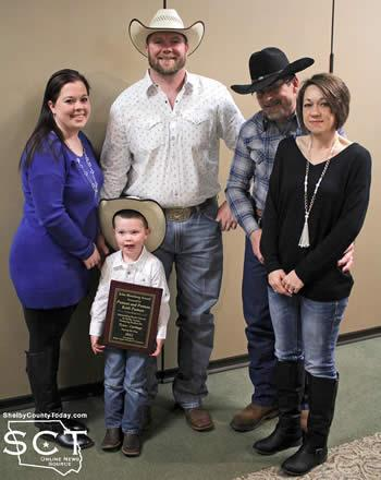 Pictured are (from left) Jessica Greer, Bradley Greer (daughter and son-in-law to the Putman's), Levi Greer, Keith Putman, and Shonia Putman.