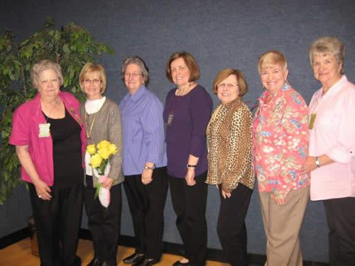 Photo: District III Director, Nita Beale of Kilgore; District III Treasurer, Jackie Hancock of Center; and Center Garden Club members, Robbie Kerr, Carolyn Bounds, Cherry Jones, Linda Bordelon, and Judy Matthews.