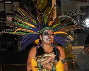 Face painting is a popular activity each year at the Día de los Muertos Fiesta, which is slated this year for 5 to 9 p.m. Saturday, Nov. 7, at The Cole Art Center @ The Old Opera House in downtown Nacogdoches.  (Photo) The Chikawa Aztec Dancers will return to Nacogdoches for the third annual Día de los Muertos Fiesta Saturday night, Nov. 7, in downtown Nacogdoches.