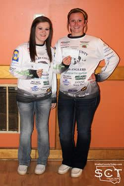 Holly Hughes (right) and Molly Sanford (left) received $75 each for 27th place with 5 fish and a weight of 10.69 lbs.
