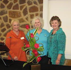 (from left)  Betty Eddleman, Carole Ann Chance, and Nell Anderson